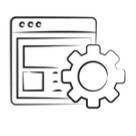 Symbol - Webseite arbeit
